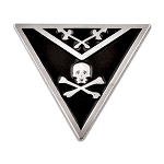 Knights Templar Apron Triangle Masonic Lapel Pin - [Black & Silver][7/8