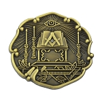 Masonic Altar Masonic Lapel Pin - [Antique Brass][1'' Tall]