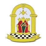 Royal Arch Principal Officers Yellow Masonic Lapel Pin - [1