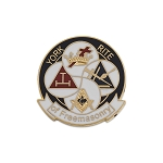 York Rite of Freemasonry Round White & Black Masonic Lapel Pin - [1
