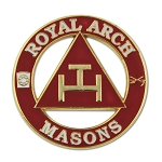 Royal Arch Masons Round Red Masonic Lapel Pin - [1 1/4