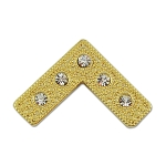 Master Square with Rhinestones Gold Masonic Lapel Pin - [1 1/4