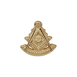 Past Master Masonic Lapel Pin - [Gold][7/8