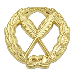 Wreathed Secretary Pens Masonic Lapel Pin - [Gold][1 1/4'' Diameter]