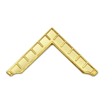 Worshipful Master's Square Masonic Lapel Pin - [Gold][1 1/4'' Wide]
