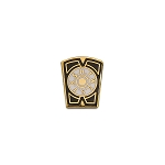 Mark Keystone Blue White & Gold Masonic Lapel Pin - [1/2