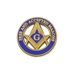 Free & Accepted Masons Masonic Lapel Pin - [Blue & Gold][1