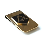 Square & Compass Masonic Money Clip - [Brass][2'' Tall]