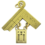 Past Master Masonic Pendant - [Brass][1 1/2'' Tall]