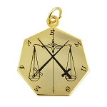 17th Degree Knight of the East & West Masonic Pendant - [Gold][1 1/2'' Tall]