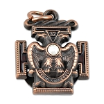 32nd Degree Rose Croix Scottish Rite Masonic Pendant - [Copper][1'' Tall]