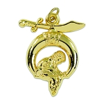 Shriner Angel Masonic Pendant - [Gold][1 1/2'' Tall]