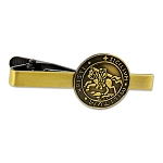 Knights Templar Seal Crusaders Solomons Temple Antique Brass Masonic Tie Clip - [2 1/4