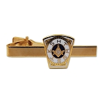 Keystone Masonic Tie Clip - [White & Blue][2 1/4'' Wide]