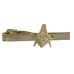 Square & Compass with Star Masonic Tie Clip - [Gold][2 1/4'' Wide]