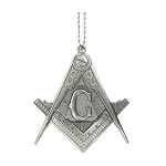 Square & Compass Masonic Knife Pendant - [Antique Silver]
