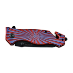 Shining Square & Compass Masonic Folding Pocket Knife - [Red & Blue]