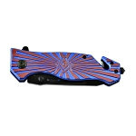Shining Square & Compass Masonic Folding Pocket Knife - [Blue & Red]