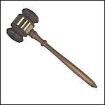 Walnut Gavel  - [10 1/2