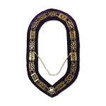 Grand Lodge Masonic Chain Collar with Purple Velvet