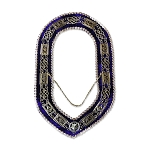 Grand Lodge Masonic Chain Collar with Rhinestones and Purple Velvet