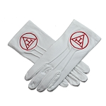 Royal Arch Masonic Embroidered Cotton Gloves - [White]
