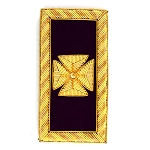 Knights Templar Past Grand Commander Teutonic Cross Embroidered Masonic Shoulder Board Pair - [Purple & Gold][4'' Tall]