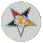 Order of the Eastern Star Round Embroidered Masonic Patch - [Multicolored][1 1/2'' Diameter]