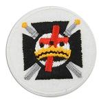 Knights Templar Cross & Crown Round Embroidered Masonic Patch - [Multicolored][1 1/2'' Diameter]