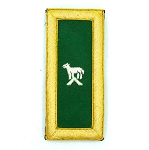 Knights Templar Generalissimo Embroidered Masonic Shoulder Board Pair - [Green, White & Gold][4'' Tall]