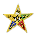 Order of the Eastern Star Embroidered Masonic Patch - [Multicolored][3'' Tall]