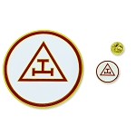 Royal Arch Triple Tau Auto Emblem Lapel Pin Masonic Combo Pack