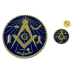 Working Tools Auto Emblem Lapel Pin Masonic Combo Pack