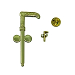 Tubal Cain Gold Auto Emblem Lapel Pin Masonic Combo Pack