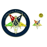 Order of the Eastern Star Patron Auto Emblem Lapel Pin Masonic Combo Pack