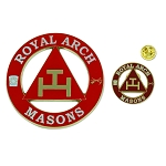 Royal Arch Masons Auto Emblem Lapel Pin Masonic Combo Pack