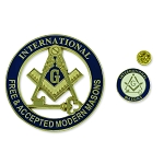 International Masons Auto Emblem Lapel Pin Masonic Combo Pack