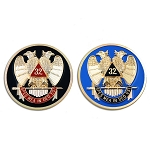 32nd Degree Scottish Rite Masonic Auto Emblem Combo Pack