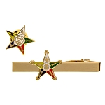 Order of the Eastern Star Tie Bar Lapel Pin Masonic Combo Pack