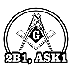 2B1 ASK1 Square & Compass Round Masonic Vinyl Decal