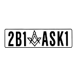 2B1ASK1 Square & Compass Masonic Vinyl Decal