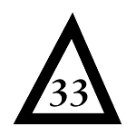 33rd Degree Scottish Rite Triangle Masonic Vinyl Decal