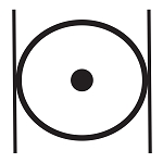 Point within a Circle & Parallel Lines Masonic Vinyl Decal