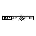 I am a Traveler Square & Compass Masonic Vinyl Decal