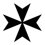 Maltese Cross Masonic Vinyl Decal