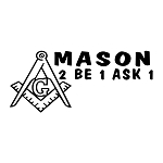 Mason 2B1ASK1 Square & Compass Masonic Vinyl Decal