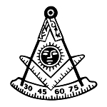 Past Master with Square & Protractor Masonic Vinyl Decal