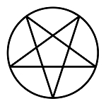 Pentacle Point Down Masonic Vinyl Decal