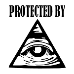 Protected by All Seeing Eye Masonic Vinyl Decal