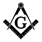 Basic Square & Compass Masonic Vinyl Decal